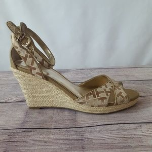 Tommy Hilfiger Signature Strappy Wedge Espadrilles